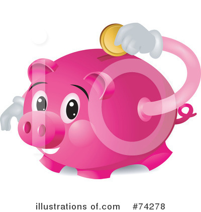 (Piggy Bank Clipart #74278 by BNP Design Studio | Royalty-Free (RF )