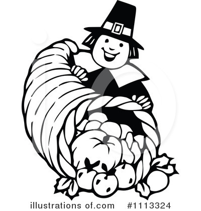 Pilgrim And Indian Clipart Black And White