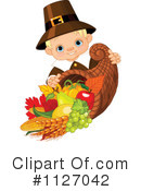 Royalty-Free (RF) Pilgrim Clipart Illustration #1127042