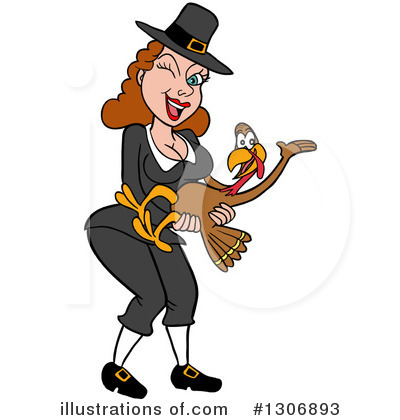 Thanksgiving Turkey Clipart #1306893 by LaffToon
