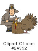 Royalty-Free (RF) pilgrim Clipart Illustration #24992