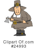 Royalty-Free (RF) pilgrim Clipart Illustration #24993
