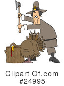 Royalty-Free (RF) pilgrim Clipart Illustration #24995