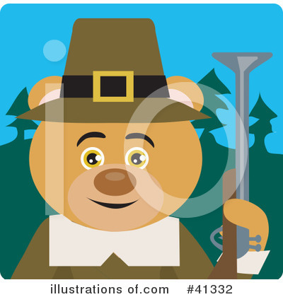 Bear Clipart #41332 by Dennis Holmes Designs