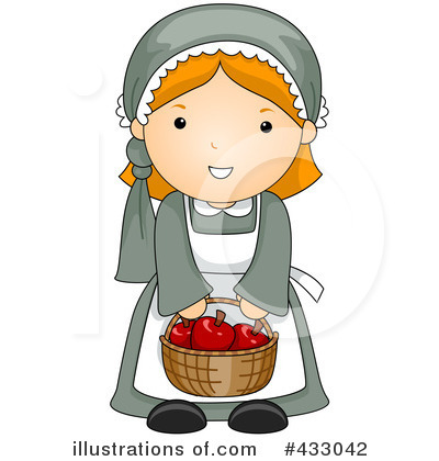Pilgrim girl 1 apron from Zazzle.com
