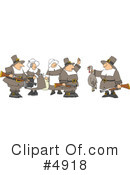 Royalty-Free (RF) Pilgrim Clipart Illustration #4918
