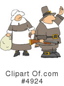 Royalty-Free (RF) Pilgrim Clipart Illustration #4924