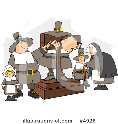 Royalty-Free (RF) Pilgrim Clipart Illustration by djart - Stock Sample #4928
