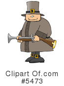Royalty-Free (RF) Pilgrim Clipart Illustration #5473