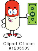 Pill Mascot Clipart #1206909 by Hit Toon