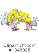 Royalty-Free (RF) Pillow Fight Clipart Illustration #1046328