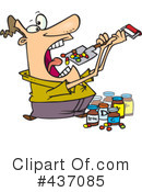 Royalty-Free (RF) Pills Clipart Illustration #437085
