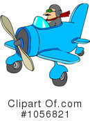 Royalty-Free (RF) Pilot Clipart Illustration #1056821