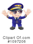Royalty-Free (RF) Pilot Clipart Illustration #1097206