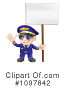Royalty-Free (RF) Pilot Clipart Illustration #1097842