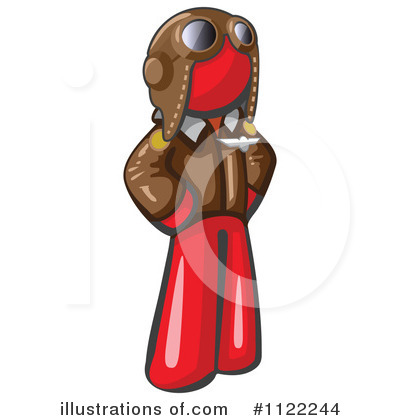 Red Design Mascot Clipart #1122244 by Leo Blanchette
