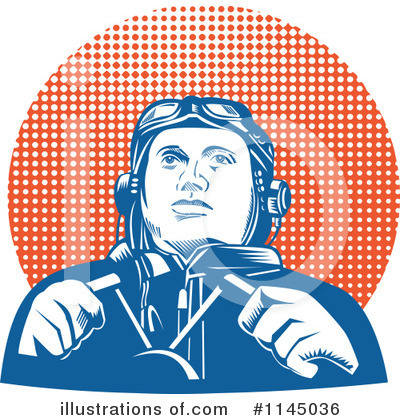Aviator Clipart #1145036 by patrimonio