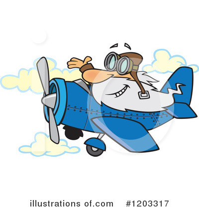 Airplane Clipart #1203317 by toonaday