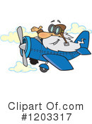 Royalty-Free (RF) Pilot Clipart Illustration #1203317