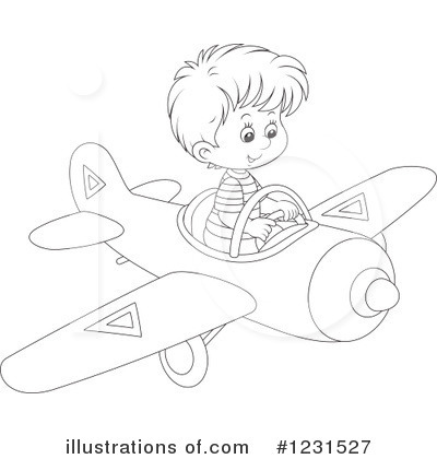 Airplane Clipart #1231527 by Alex Bannykh