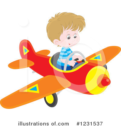 Airplane Clipart #1231537 by Alex Bannykh