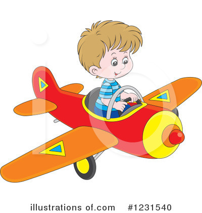 Airplane Clipart #1231540 by Alex Bannykh
