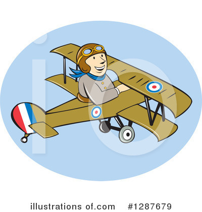 Royalty-Free (RF) Pilot Clipart Illustration by patrimonio - Stock Sample #1287679