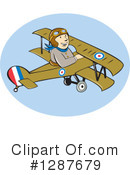 Royalty-Free (RF) Pilot Clipart Illustration #1287679