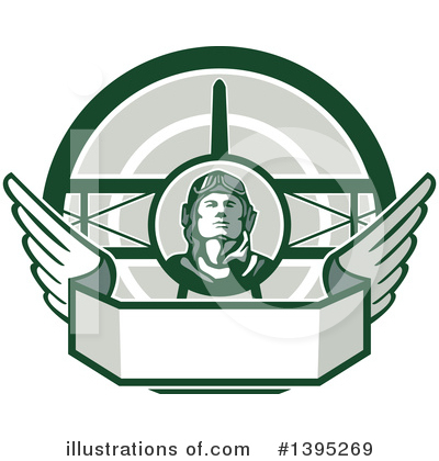 Aviator Clipart #1395269 by patrimonio