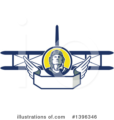 Aviator Clipart #1396346 by patrimonio