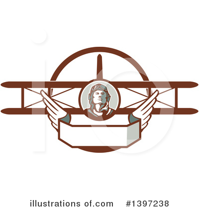 Aviator Clipart #1397238 by patrimonio