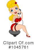 Royalty-Free (RF) pin up Clipart Illustration #1045761