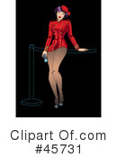 Royalty-Free (RF) Pin Ups Clipart Illustration #45731