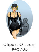 Royalty-Free (RF) Pin Ups Clipart Illustration #45733