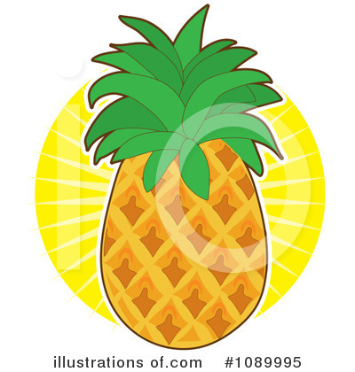 Pineapple Clipart #1089995 by Maria Bell
