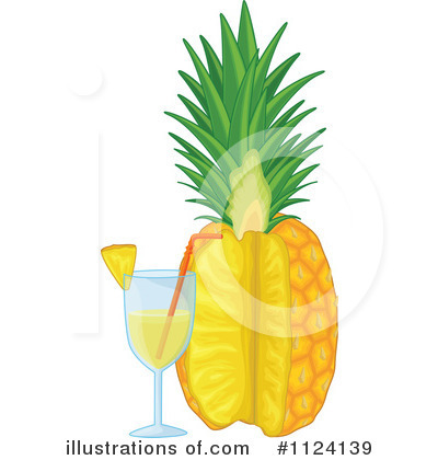 Pineapple Clipart #1124139 by Graphics RF