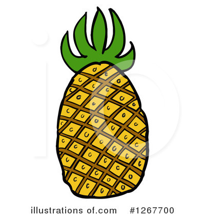 Royalty-Free (RF) Pineapple Clipart Illustration by LaffToon - Stock Sample #1267700