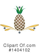 Pineapple Clipart #1404102 by inkgraphics