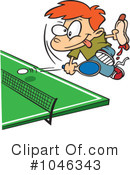 Royalty-Free (RF) Ping Pong Clipart Illustration #1046343