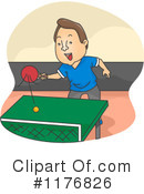Royalty-Free (RF) ping pong Clipart Illustration #1176826