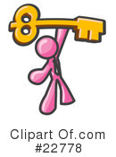 Royalty-Free (RF) Pink Collection Clipart Illustration #22778