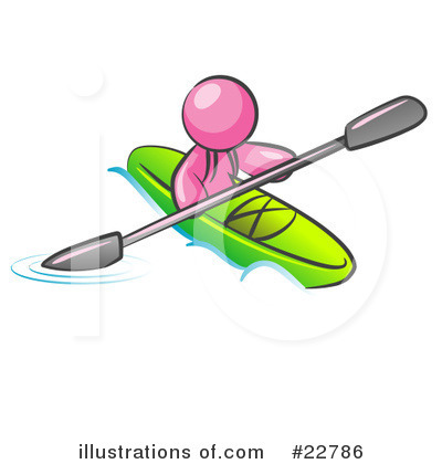 Kayaker Clipart #22786 by Leo Blanchette