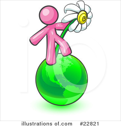 Daisy Clipart #22821 by Leo Blanchette