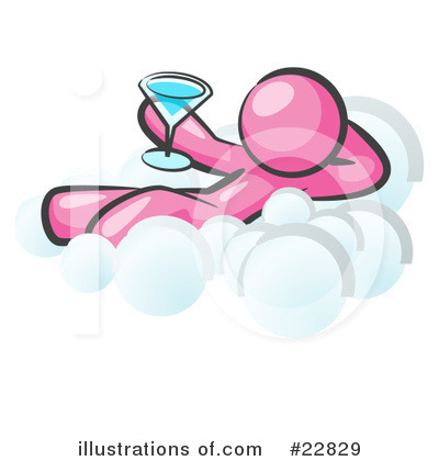 Royalty-Free (RF) Pink Collection Clipart Illustration by Leo Blanchette - Stock Sample #22829