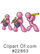 Royalty-Free (RF) Pink Collection Clipart Illustration #22863