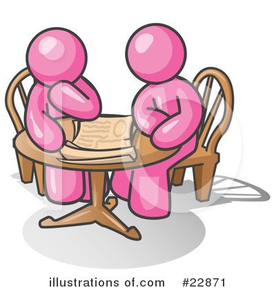 Pink Collection Clipart #22871 by Leo Blanchette