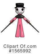 Pink Design Mascot Clipart #1565992 by Leo Blanchette
