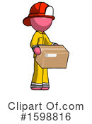 Pink Design Mascot Clipart #1598816 by Leo Blanchette