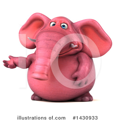 Pink Elephant Clipart #1430933 by Julos