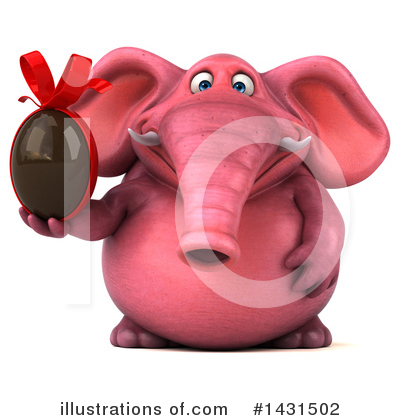 Pink Elephant Clipart #1431502 by Julos